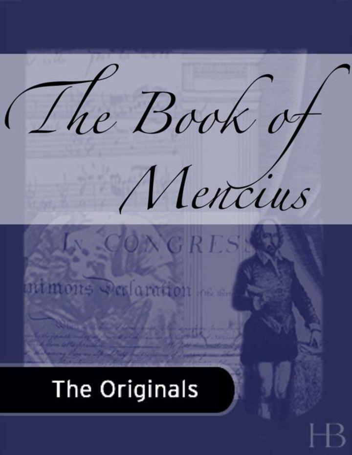 The Book of Mencius