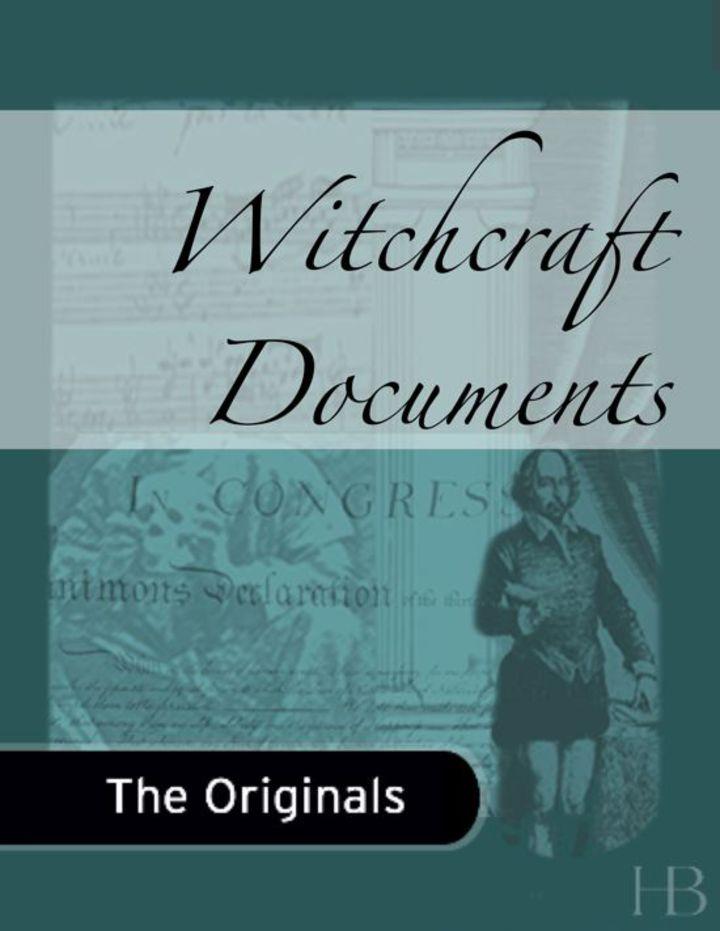 Witchcraft Documents
