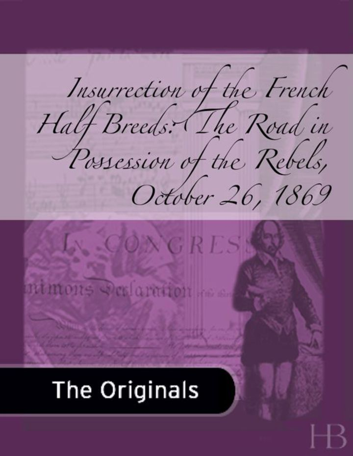 Insurrection of the French Half Breeds: The Road in Possession of the Rebels, October 26, 1869