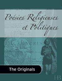 Poésies Religieuses et Politiques              by             Louis David Riel