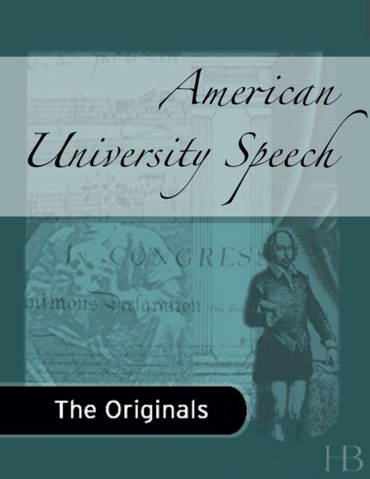 American University Speech