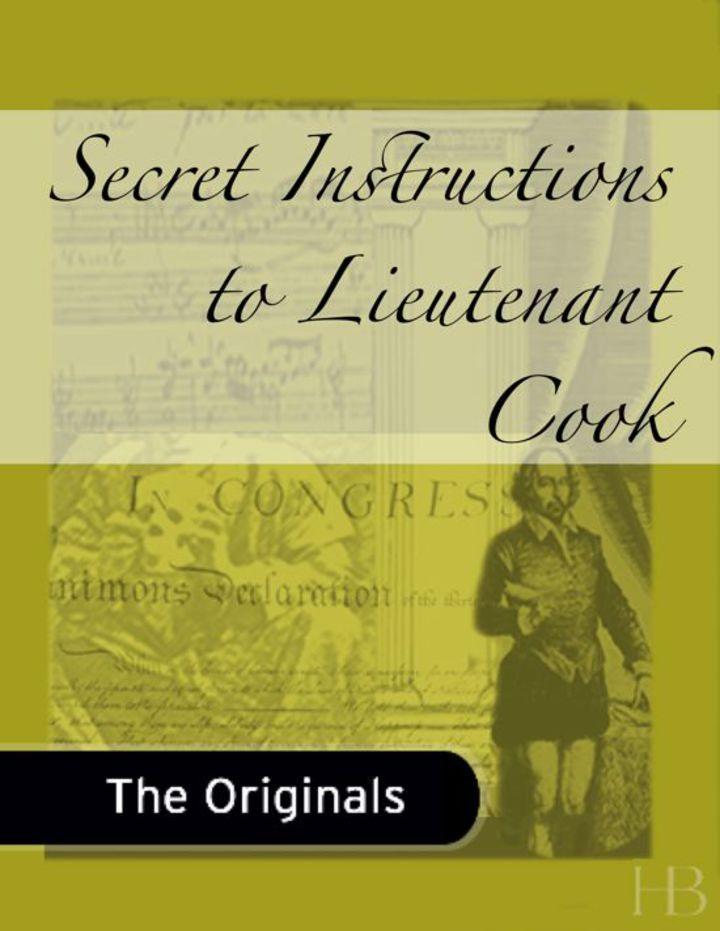 Secret Instructions to Lieutenant Cook