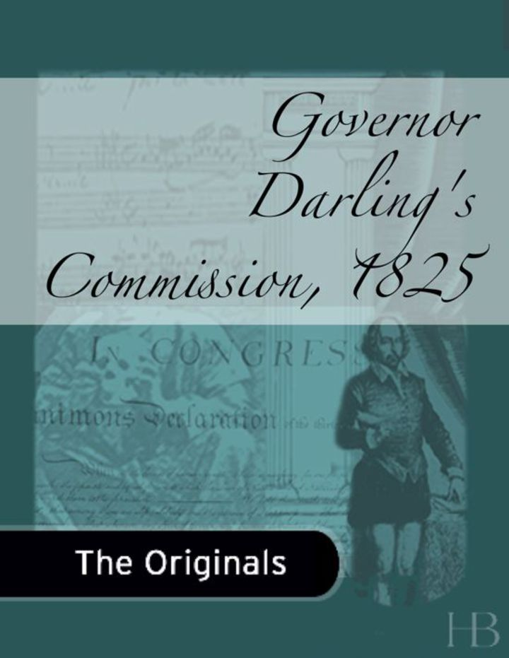 Governor Darling's Commission, 1825