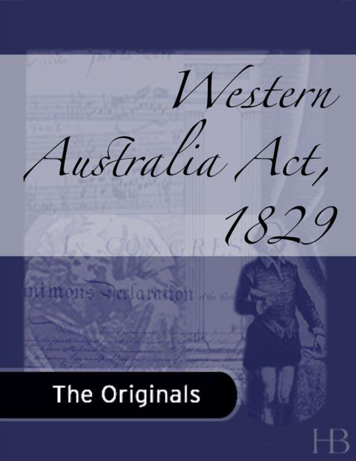 Western Australia Act, 1829