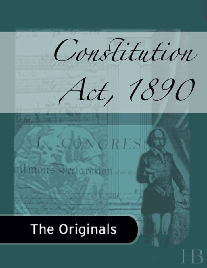 Constitution Act, 1890