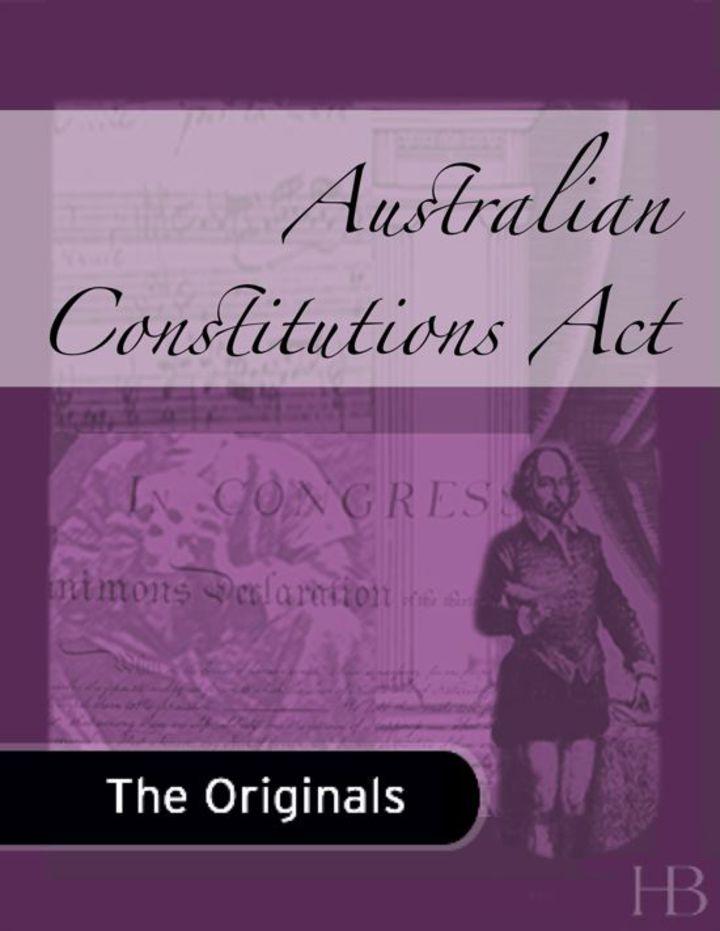 Australian Constitutions Act
