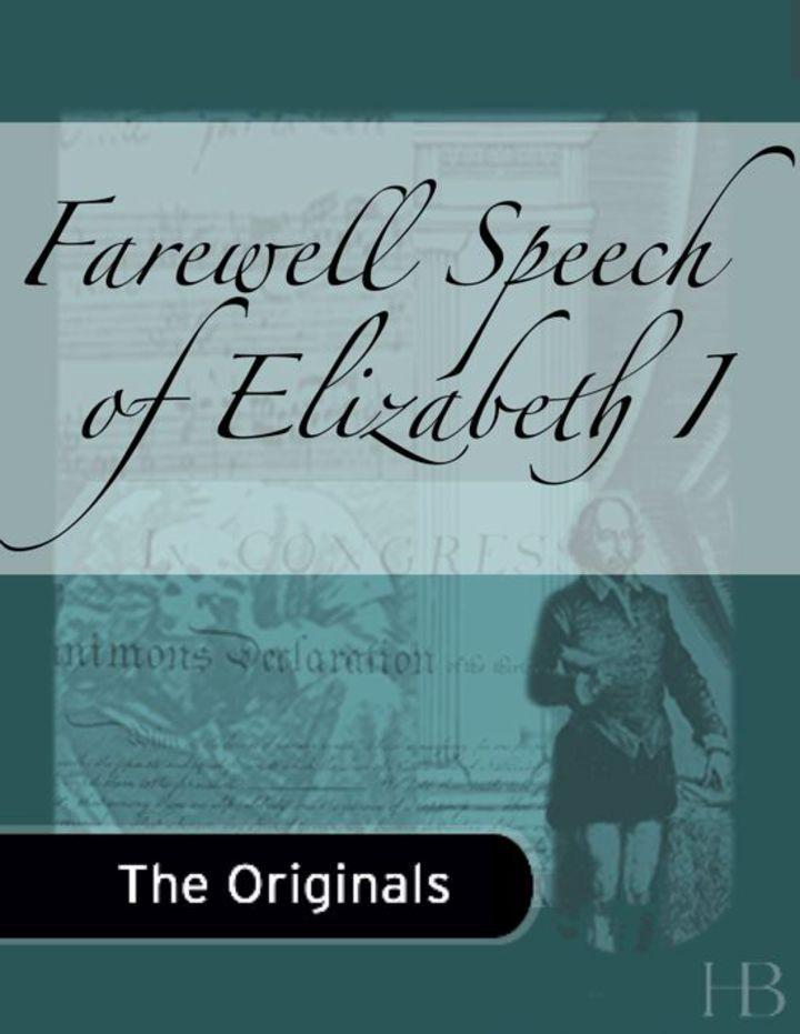Farewell Speech of Elizabeth I
