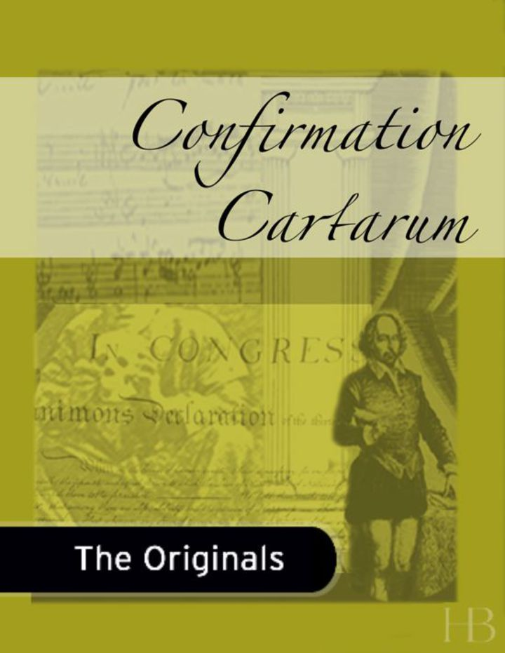 Confirmation Cartarum
