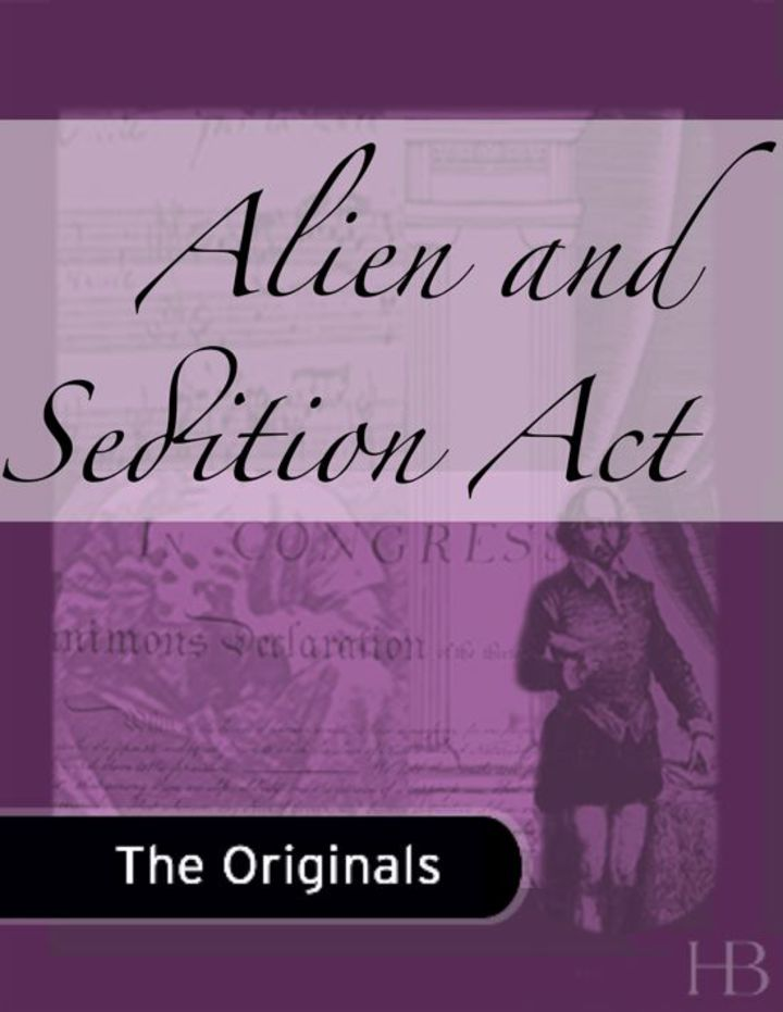 Alien and Sedition Act