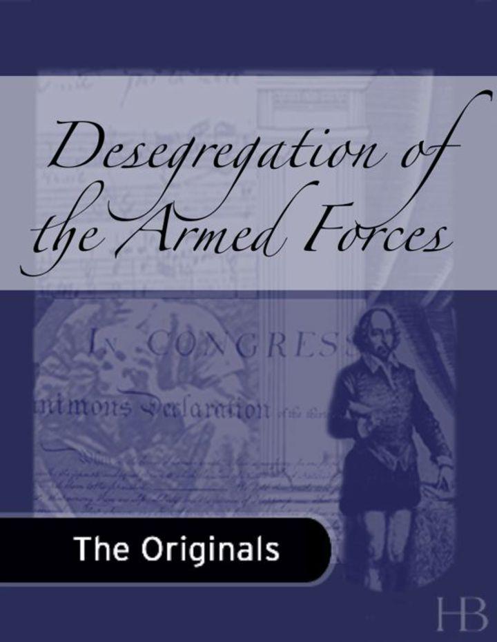 Desegregation of the Armed Forces