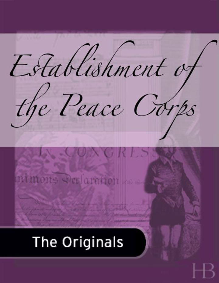 Establishment of the Peace Corps