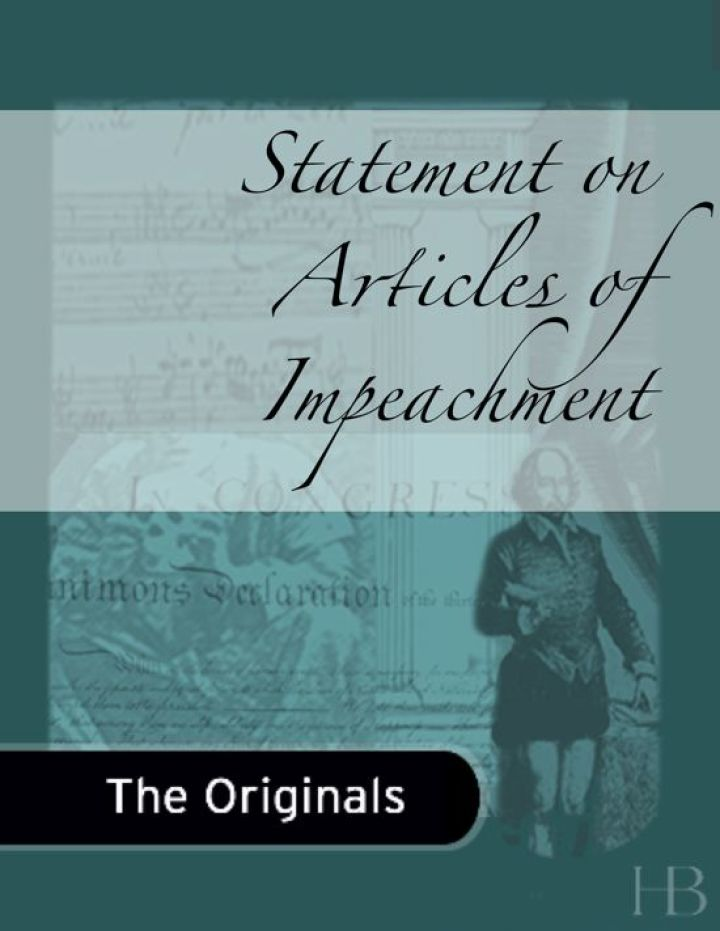 Statement on Articles of Impeachment