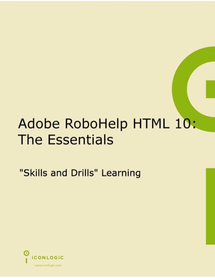 Adobe RoboHelp HTML 10:  The Essentials (PDF)