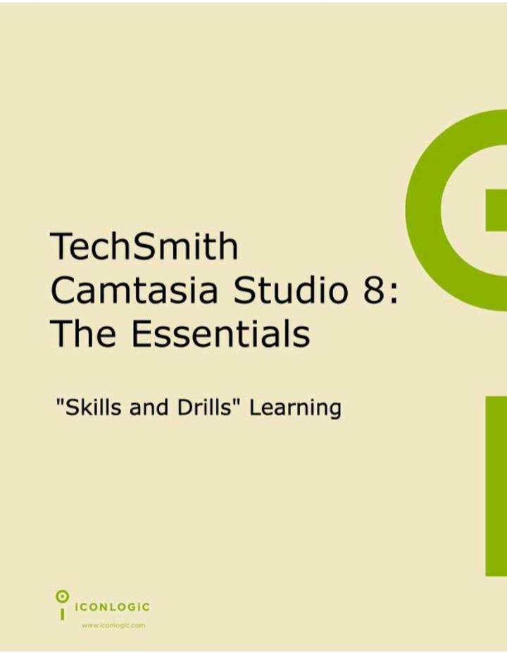 Techsmith Camtasia Studio 8: The Essentials (PDF)